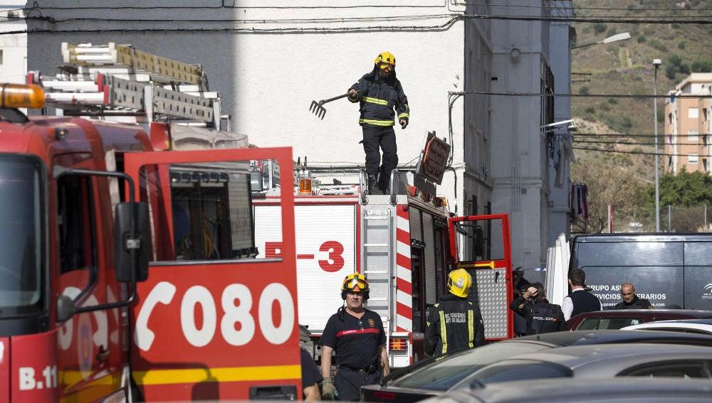 Imagen de archivo de los bomberos