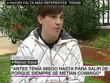 Dylan García, menor transexual