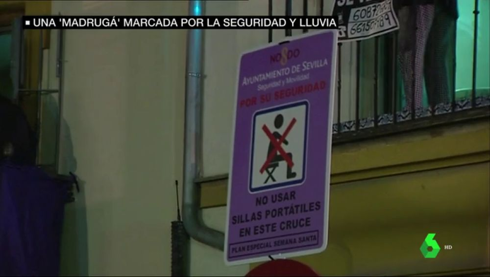 Prohibición de sillas portátiles en Sevilla