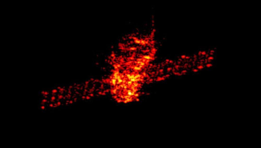 Imagen de radar de la estación espacial china