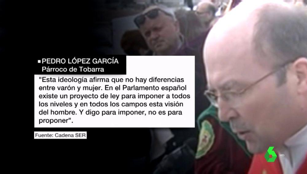 El sacerdote de Tobarra vincula ideología de género con la dictadura y la Inquisición