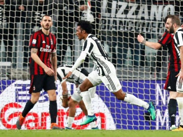 La Juventus celebra un gol ante el Milan