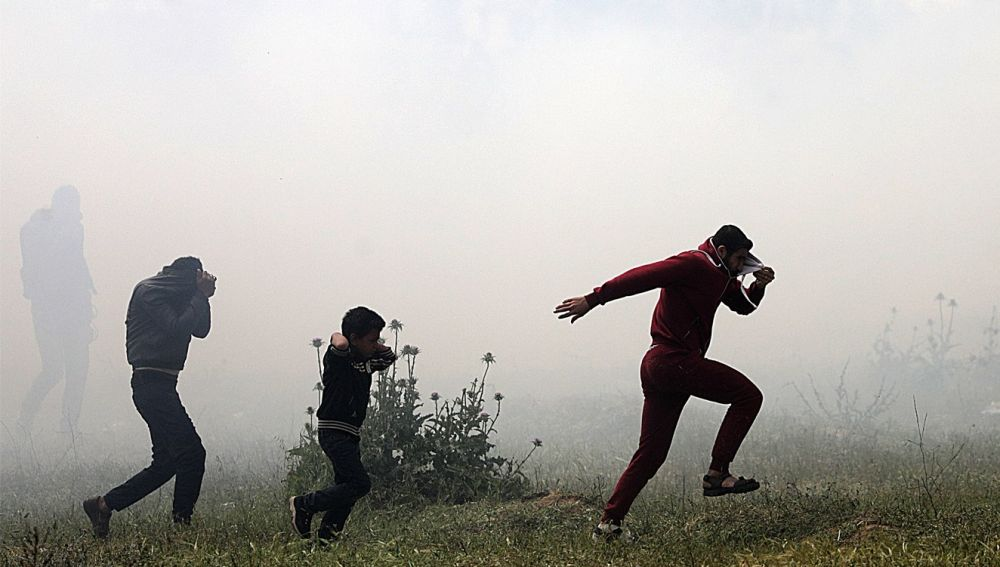 Enfrentamientos en la frontera de Gaza