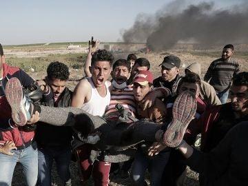 Protestas de palestinos en Gaza
