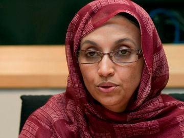 La activista saharaui de los derechos humanos Aminetu Haidar