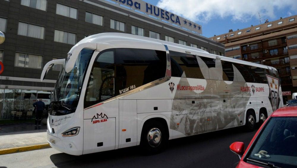El autocar del Albacete