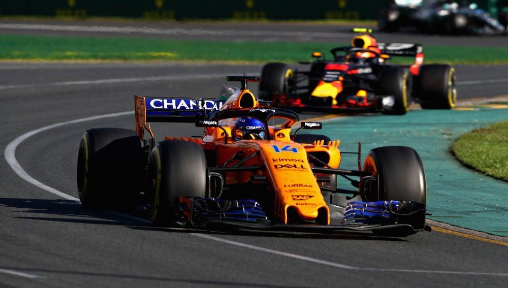 Fernando Alonso, durante una prueba del Mundial de Fórmula 1