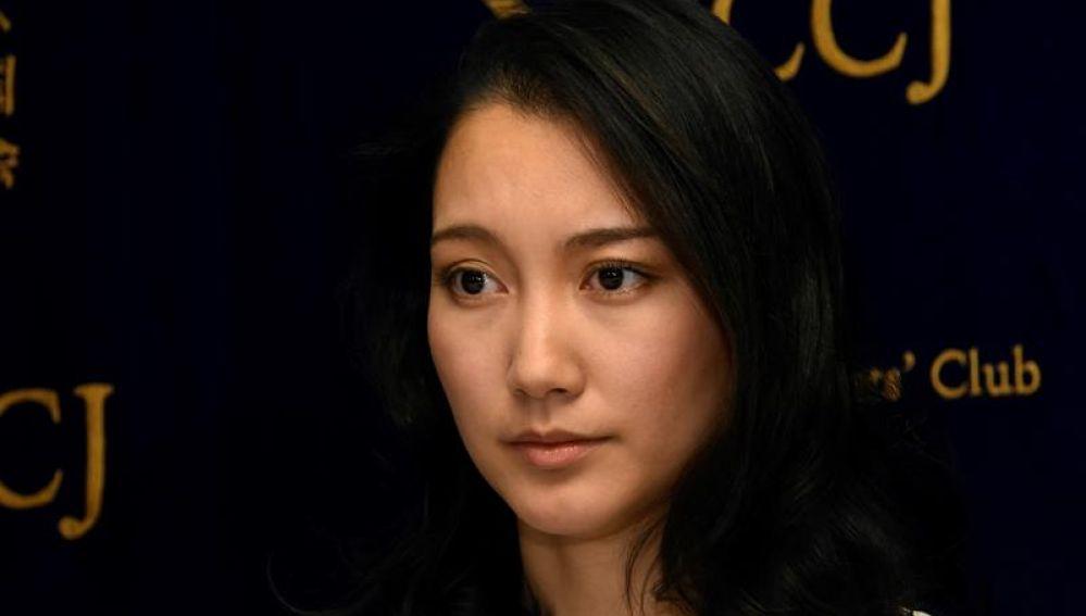 La japonesa Shiori Ito durante una rueda de prensa el 24 de octubre de 2017
