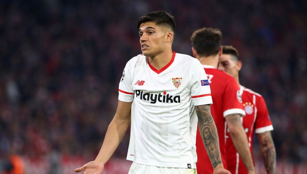 Correa se lamenta tras una ocasión en el Allianz Arena