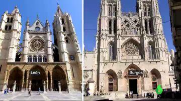 La catedral de León y la catedral de Burgos