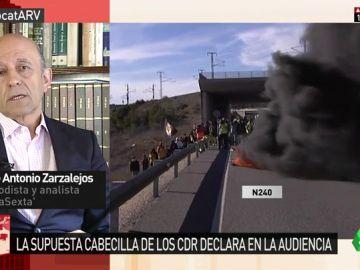 """José Antonio Zarzalejos: """"Lo que hacen los CDR no es terrorismo, son actos vandálicos"""""""