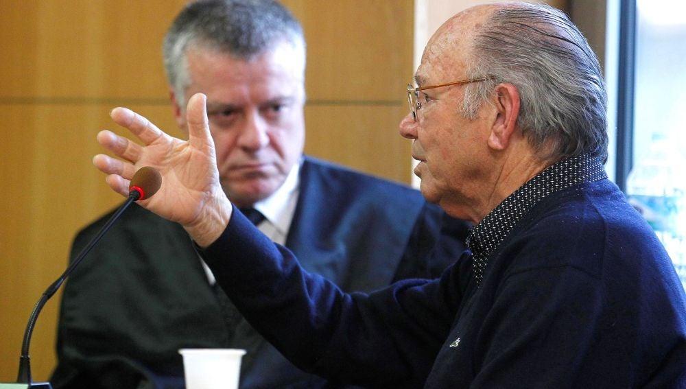 Jacinto S.M  en la Audiencia de Santa Cruz de Tenerife, durante el juicio.