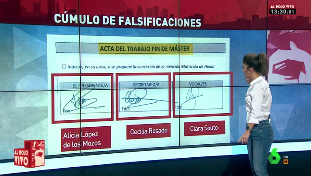 """Documentos """"reconstruidos"""", firmas falsas, notas que pasan de un no presentado a un notable… el cúmulo de falsificaciones en el máster de Cifuentes"""