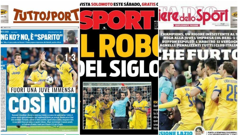 Las portadas tras el pase del Real Madrid ante la Juventus