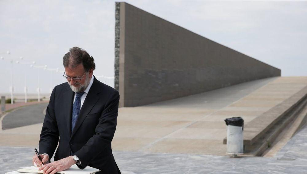 Mariano Rajoy en un homenaje a los desaparecidos en las dictaduras de Argentina