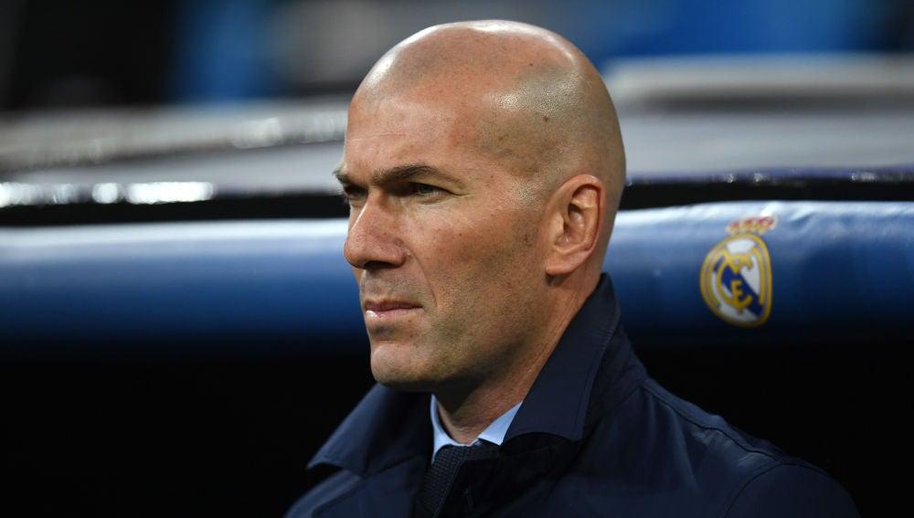 Zidane, durante el partido ante la Juventus