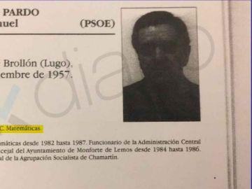 Currículum de José Manuel Franco en las fichas de la Asamblea de Madrid