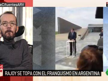 """Echenique, sobre la asistencia de Rajoy en un homenaje a las víctimas de la dictadura argentina: """"A nadie se le escapa la hipocresía"""""""