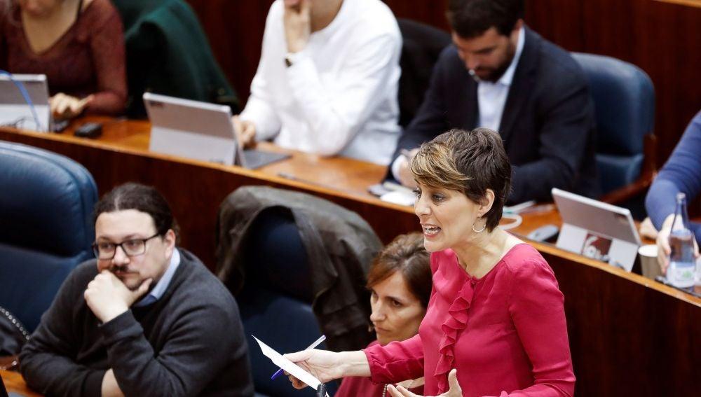 La portavoz del Grupo Parlamentario Podemos, Lorena Ruiz-Huerta