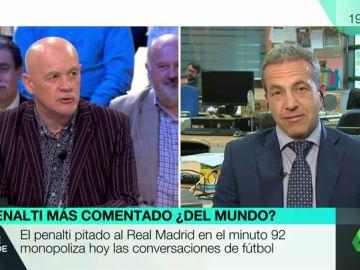 """Cara a cara entre Alfredo Duro y Cristóbal Soria por el penalti al Madrid: """"Aquí afloran ahora las frustraciones, la rabia y la bilis"""""""