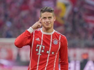 James, en un partido con el Bayern