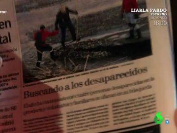 Foto del 'falso héroe' en un periódico