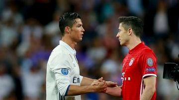 Cristiano Ronaldo y Lewandowski