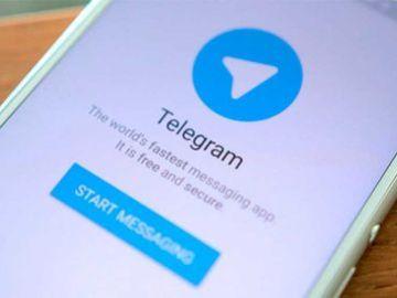 Teléfono móvil con la aplicación 'Telegram' (Archivo)