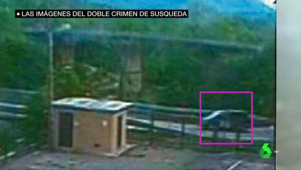 Las imágenes que sitúan a Jordi Magentí en el pantano de Susqueda donde fueron asesinados Marc y Paula