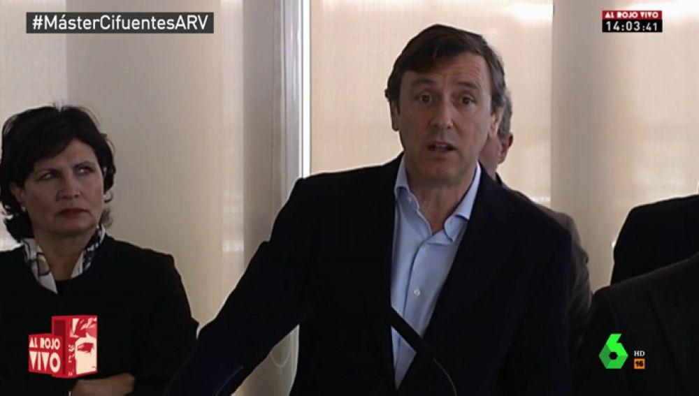 El portavoz del PP en el Congreso Rafael Hernando