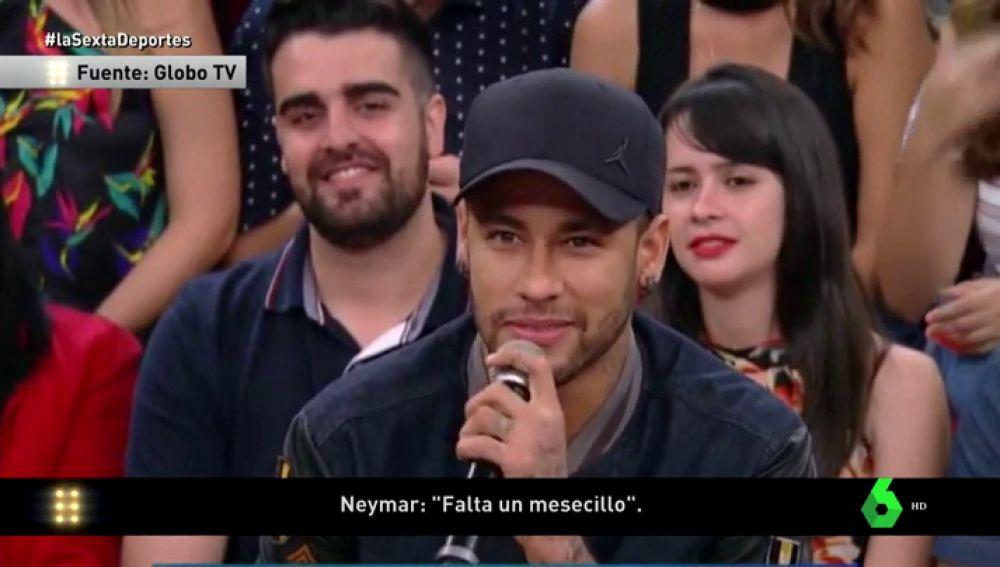 """Neymar, sobre su recuperación: """"Falta un mes, pero estoy progresando bien, consolidando bien"""""""