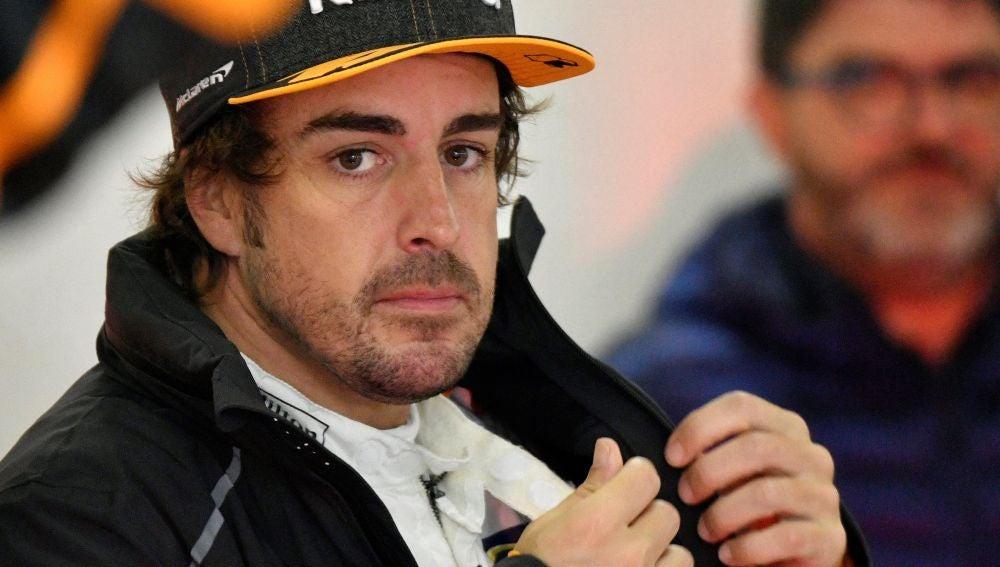 Fernando Alonso, durante los entrenamientos libres de China
