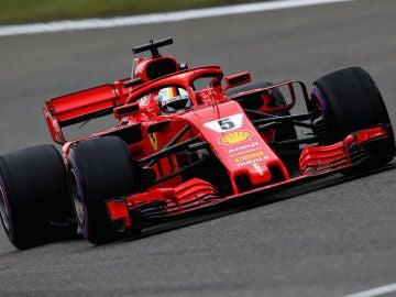 Vettel, en Shanghái