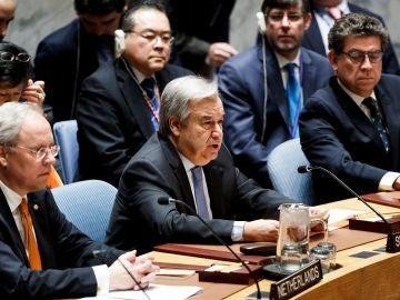 El secretario general de las Naciones Unidas, Antonio Guterres