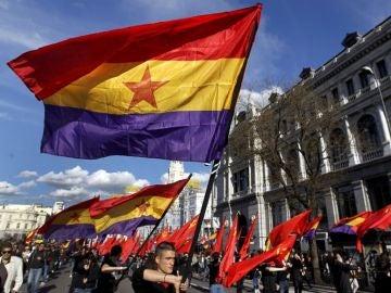 Manifestación en Madrid por la Segunda República