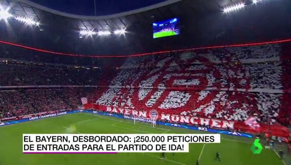 Expectación máxima en Múnich con el Real Madrid: el Bayern recibe 250.000 peticiones de entrada
