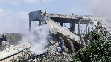 Una de las zonas sirias afectadas por el ataque de EEUU