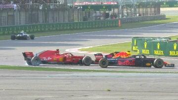 El golpe de Verstappen a Vettel