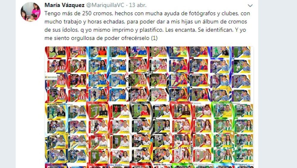 Los cromos realizados por María Vázquez