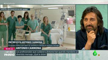 El equipo médico que atendió al artista Antonio Carmona