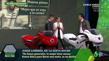 """Jorge Lorenzo: """"En líneas generales, la mujer tiene menor fuerza física para llevar una moto, es un hecho"""""""