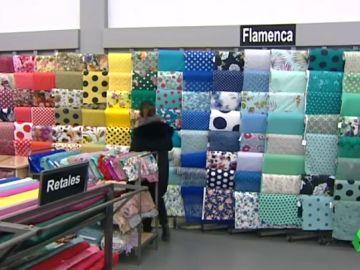 Las distintas telas para confeccionar un traje de flamenca