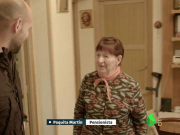 Paquita Martín, una pensionista de 85 años