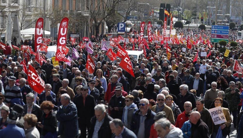 Movilización de pensionistas en Madrid
