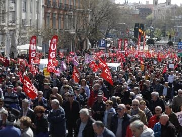 Movilización de pensionistas en Madrid