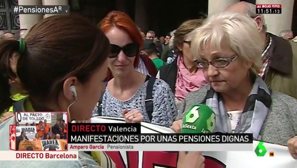 Amparo García, pensionista que vive con una pensión de 500 euros