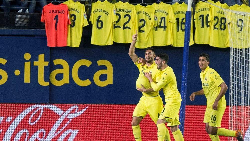 Víctor Ruiz celebra su gol contra el Leganés