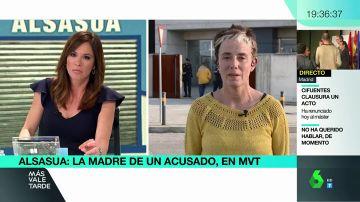 Isabel Pozueta, madre de uno de los acusados por terrorismo en Alsasua