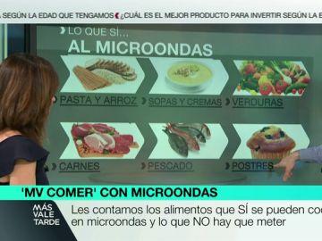 Los alimentos que sí se pueden cocinar en microondas