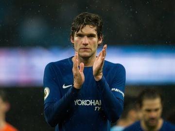 Marcos Alonso, al terminar un partido con el Chelsea